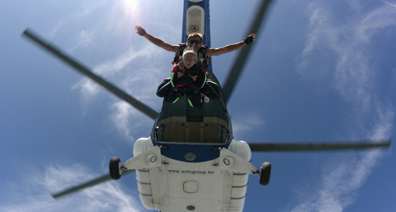 Hungary Helicopter Tandem jump by Lake Balaton