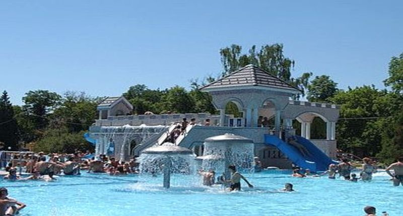Hungary Eger spa park and thermal baths